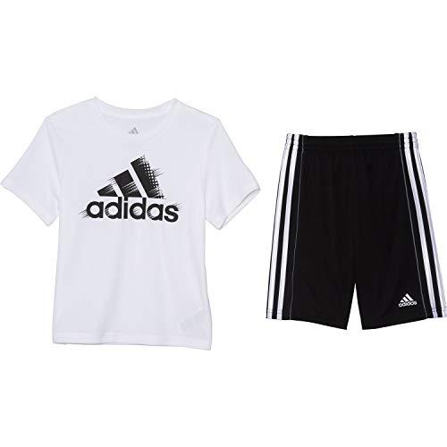 adidas Badge of Sport - Juego de camiseta y pantalones corto