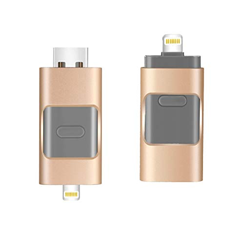 2 pcs Memory Stick 3-in-1 OTG USB Flash Drives iPhone iPad Flash Drive USB Encrypted Metal Pen Drive Compact USB3.0 Memory Stick External Storage for IOS Android Computers