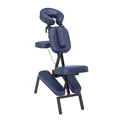 TAOline VITAL Massagestuhl, klappbar, dunkelblau, Stuhl für mobile Massage und Shiatsu, inklusive rollbarer Tragetasche