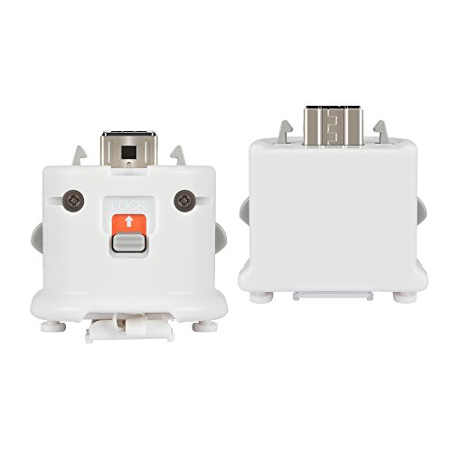 Wii Motion Plus Adapter 2 Pack for Wii Remotes, Lavuky WM03 Wii Motionplus Attachment for Wii Remote Controller -White(3rd-Party Product)