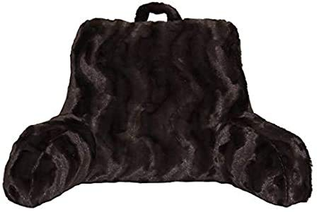 Better Homes and Gardens Beautyful Soft Faux Fur Backrest Pillow Chocolate