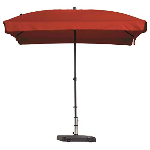 Madison Sonnenschirm Knickbar Gartenschirm Ampelschirm Balkonschirm Marketschirm Strandschirm Schirm Sonnenschutz Rechteckig 210x140 cm Ziegelrot