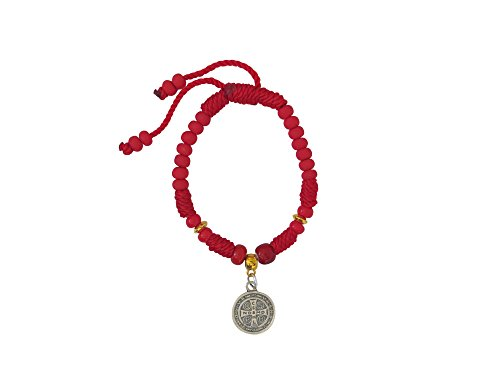 Red Saint Benedict Thread Bracelet Pulsera Roja de Hilo de San Benito