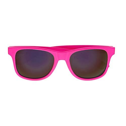 Amakando Occhiali a Specchio Vintage alla Moda per Donne & Uomini/Rosa/Vistosi Occhiali Neon per Party Anni '90 / Accessorio Perfetto per Party Anni '80 & Carnevale