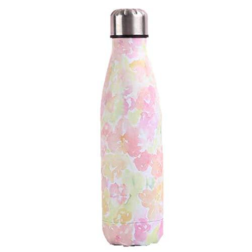 NYCROSSER Flask Roestvrijstaal Hot & Cold Sports Drinks Fles dubbelwandig stofzuiger BPA-vrije fitnessruimte camping 500ml