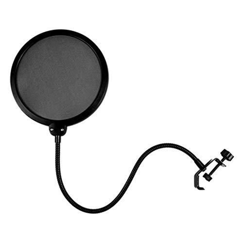 Zwarte Microfoon Pop Filter,Dubbele Laag Geluid Shield Guard Wind Scherm voor Opname Studio
