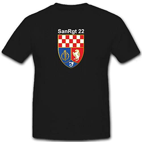Copytec SanRgt 22 6642 - Camiseta de Sanidad del ejército alemán Negro  XXXXL