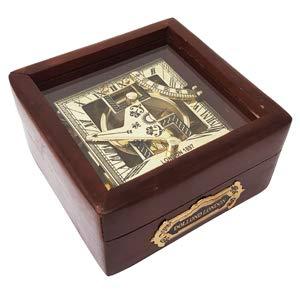 Orologio solare meridiana in ottone nautico bussola meridiana orologio meridiana per vendita Sun Clock Buy meridiana marine nautica meridiana–marittima con confezione regalo in legno