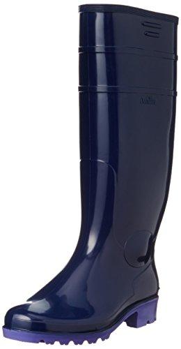 [アキレス] レインブーツ 長靴 作業靴 日本製 耐油 長さ調節可能 2E メンズ レディース TWB 2100 ネイビー 26.0 cm
