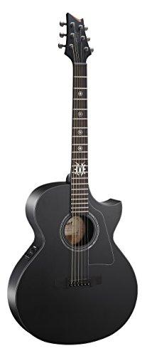 Cort EVL-A4Akustikgitarre, Schwarz, seidenmatt