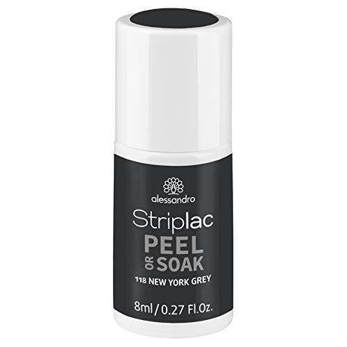 alessandro Striplac Peel or Soak New York Grey – LED-Nagellack in urbanem Grau – Für perfekte Nägel in 15 Minuten – 1 x 8ml