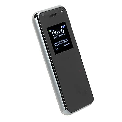 Mini teléfono Celular, teléfono móvil Multifuncional para niños, teléfono móvil con Doble Modo de Espera, teléfono móvil portátil, teléfono móvil portátil, 32 MB + 32 MB(Blanco)