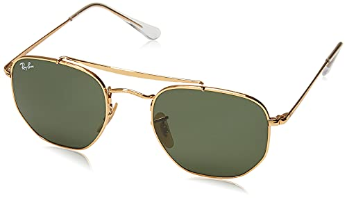 Ray-Ban 0Rb3648, Gafas de Sol Unisex Adulto, Dorado (Green Classic), 54