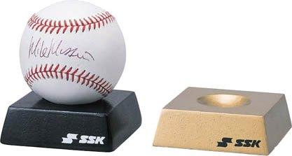SSK(エスエスケイ) 野球 記念品 木製サインボール台 ブラック SBC5
