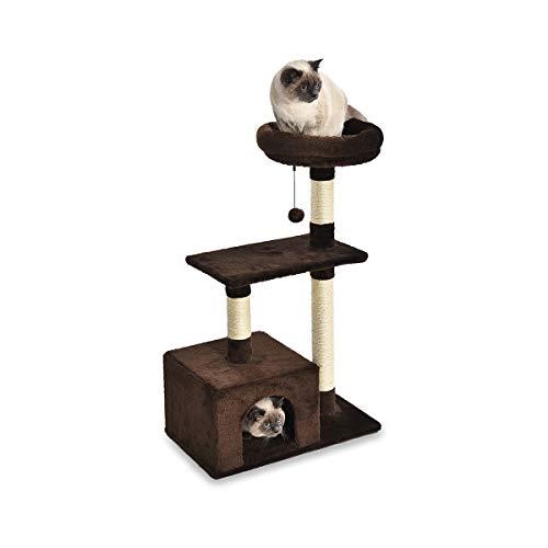 AmazonBasics - Árbol con cerramiento base para gatos, 61x48