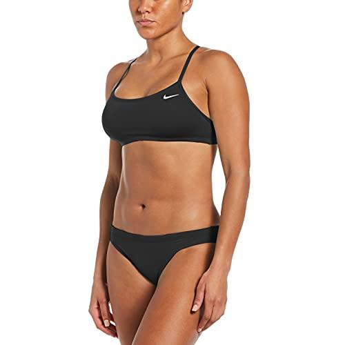 Nike Racerback Bikini-Set für Damen, Damen, Bikini, NESSA211-001, schwarz, S