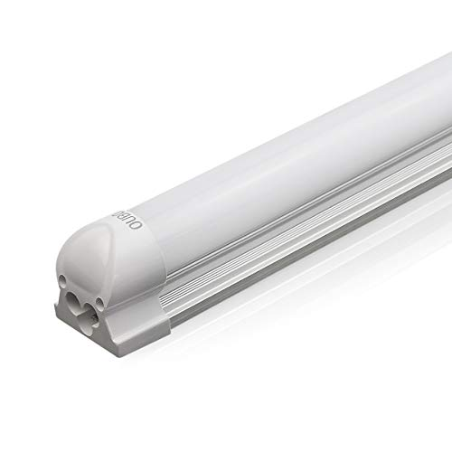 [Premium 100 lm/W]OUBO 60cm LED Leuchtstoffröhre komplett Set mit Fassung kaltweiss 6000K 10W 1000lm Lichtleiste Unterbauleuchte Küchenlampe Schrankleuchte Deckenleuchte led strip milchige Abdeckung