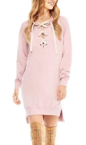 Nvfshreu trui voor dames, lente, herfst, lange mouwen, elegante vintage, lange mouwen, kruisband, blousejurk, fashion chic, effen geopende vork, asymmetrisch bovenstuk, tops