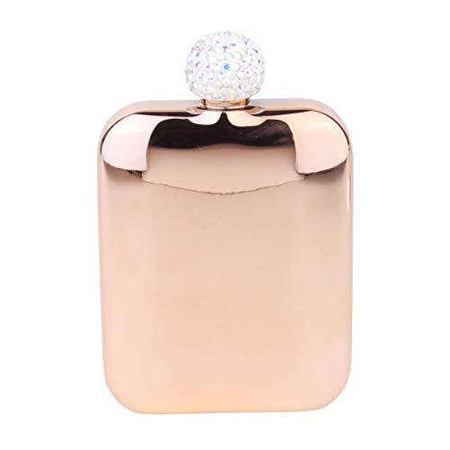 Garneck Fiaschetta in Acciaio Inossidabile Fiaschetta Fiaschetta Portatile per Strass per Uomo E Donna in Oro Rosa