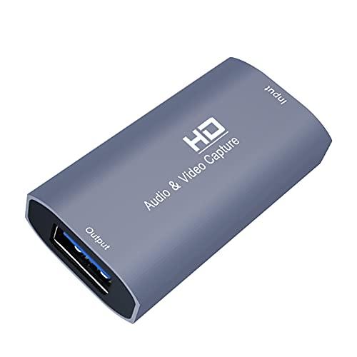 #N/A/a Tarjeta de Captura de Audio y Video HD/F a USB/F Dispositivo 4K 1080P para grabación de transmisión en Vivo Enseñanza de Juegos Cámara Videos HD
