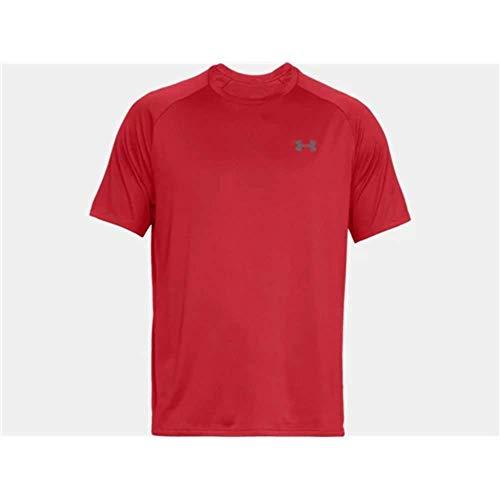 Under Armour Ua Tech Tee 2.0 Camiseta de manga corta, Hombre, Rojo (Red/Graphite), LG