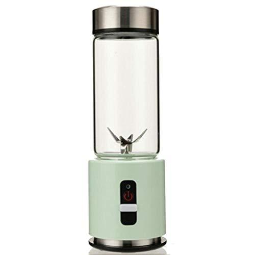 USB oplaadbare smoothie blender 380 ml glazen smoothie blender Juicer Easy kleine draagbare blender Groen nieuw, groen