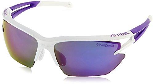 ALPINA Eye-5 HR S cm Outdoorsport-Brille, White-Purple, One Size