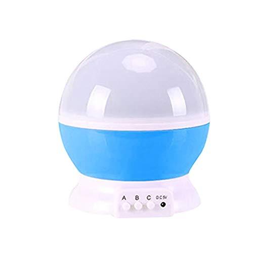 Mini proyector portátil estrella lámpara de proyección LED giratoria luces proyector para fiesta etapa azul