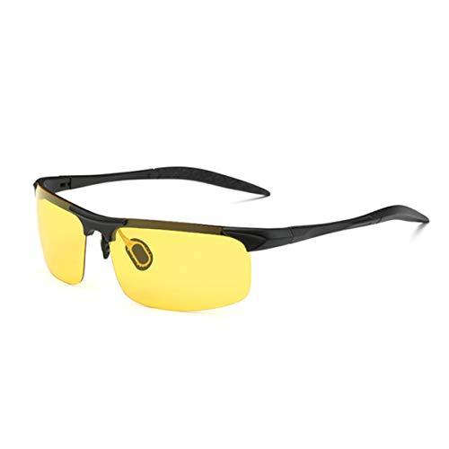 Hengtaichang Sunglasses Men's Polarized Sunglasses Car Driving Vintage Sun Glasses Men Sports Glasses For Fishing Golf Gafas De Sol De Los Hombres 8177 P8177 Black Yellow