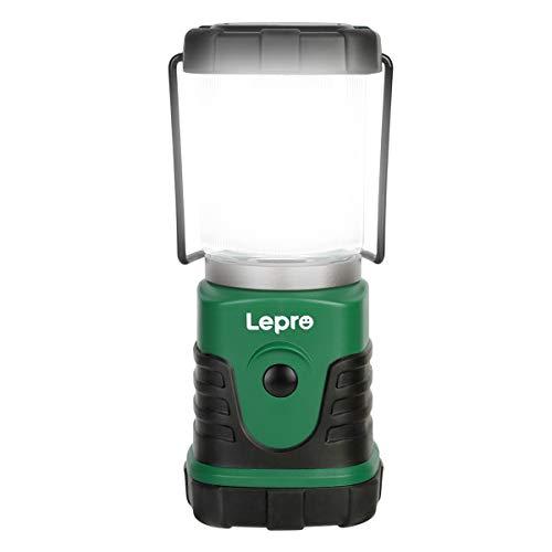 Lepro Linterna de Camping LED, Lámpara de Camping 350 LM (no incluida batería), Farol Camping Regulable 4 Modo de iluminación, Luz de Emergencia LED para Camping, Senderismo, Pesca, etc, Pack of 1