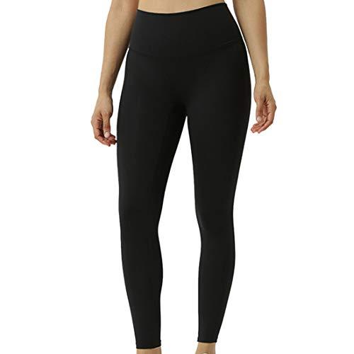 Leggings Donna Calzamaglia Sportiva Vita Alta Pantaloni Fitness Yoga Pantaloni Yoga Tinta Unita Allenamento Corsa Allenamento Elastico Moda Casual Traspirante Hip Lift Sport Pantaloni Yoga M