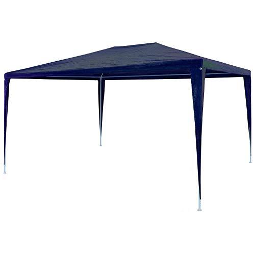 vidaXL Chapiteau Rétractable Tonnelle Pavillon Pliable de jardin 3x4,5 m Bleu