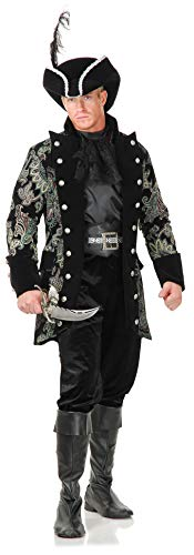 Charades Men's Royal Pirate Captain Costume Outerwear, Green/Wine/Black,...
