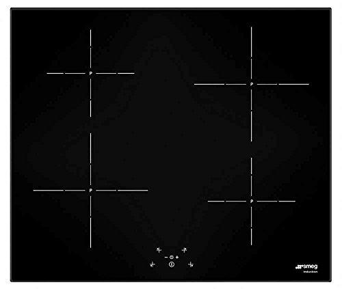 Smeg SI5643D Induktion Kochfeld–Platte (Tisch, Glas, elektronisch, Vorderseite, 60cm) schwarz