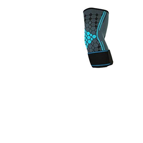Knowooh Damen Herren Ellenbogenbandage Verstellbare Atmungsaktive Ellbogenschiene Ellenbogenschoner Kompression Für Sport Fitness Gym Ellbogen Bandage(Blau/L)