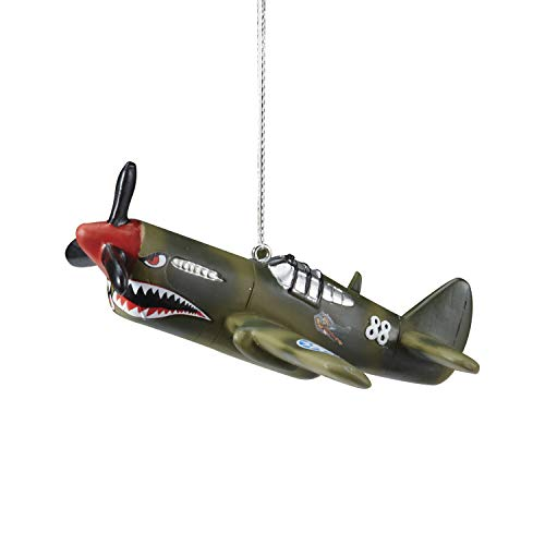 Sporty's P-40 Flying Tigers Warbird Christmas Aviation Flying Ornament