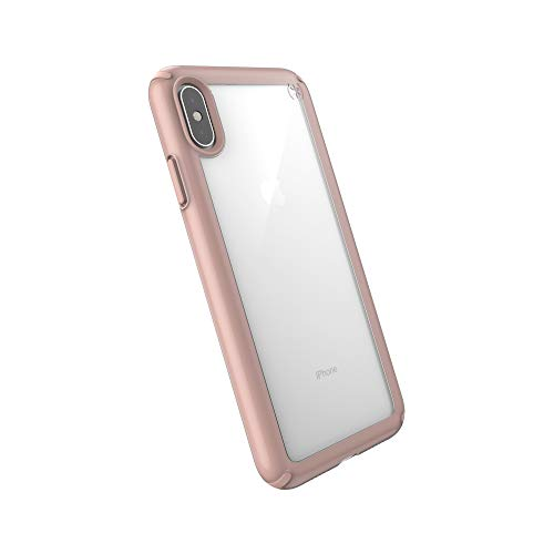 Speck Products Presidio Show iPhone Xs Max Case, Clear/Rose Gold