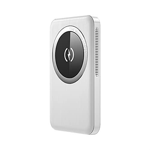 Huante 15W Magnético Wireless Power Bank 10000mAh, 20W PD Cargador rápido, batería Externa, Compatible con iPhone 12/12 Mini/Pro/MAX (Battery Capacity : 10000mAh, Color : White)