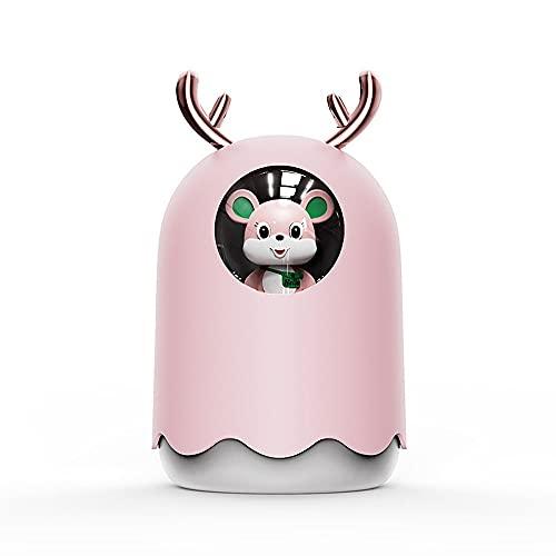 Humidificador Ultrasónico Lindo Vapor Frío USB Eléctrico Silencio 300 Ml Difusores De Aceite Perfumado,Dos Modos De Pulverización,Regalos De Escritorio De La Oficina Del Coche En Casa ( Color : Pink )