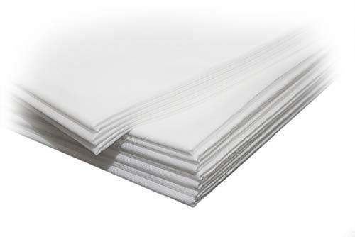 Tücher | Laken aus PP-Vlies | Auflagen | Weiß | 85 x 200 cm | 20 Stück |