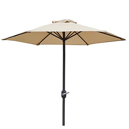 yanzz Sombrilla de jardín de 2 m, sombrilla Impermeable para Mesa al Aire Libre, sombrilla, sombrilla Recta para balcón, Patio, Pesca, sombrilla con 6 Varillas de Acero/manivela