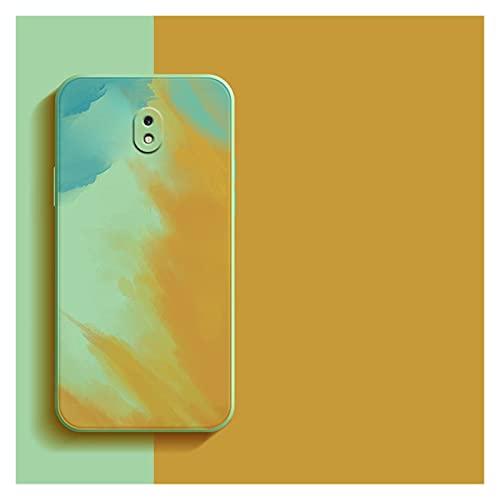 WJYD MDBH Caja del teléfono de Silicona para Samsung Galaxy J3 J5 J7 2017 J5 Pro J330 J530 J730 J6 Más 2018 J4 Plus J2 J7 Case Prime Coque (Color : Yellow, Material : J3...