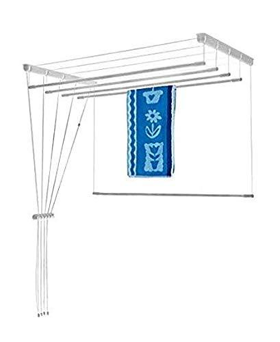 Etend'Mieux® - Tendedero colgante con barras independientes, 6 barras (54 cm de ancho) x 1 m 30 cm, capacidad del tendedero 7 m 80 cm