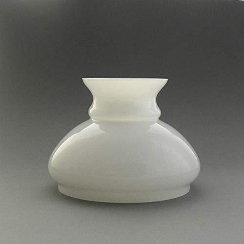 Vestaglas opal weiß, Durchmesser 12,1 cm, Ersatzglas, Lampenschirm aus Glas für die Petroleumlampe oder elektrische Leuchte.