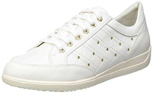 Geox D Myria H, Zapatillas Mujer, Blanco Crudo, 39 EU