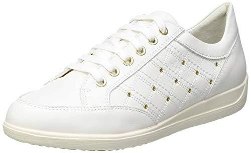 Geox D Myria H D15, Zapatillas Mujer, Blanco Crudo, 38 EU