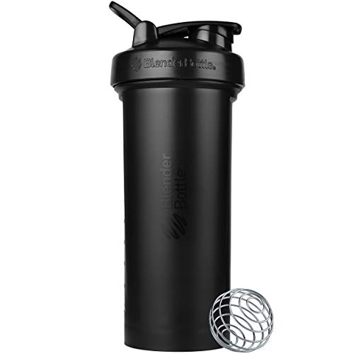 BlenderBottle Classic V2 Shaker Bottle Perfect for Protein Shakes and Pre Workout, 45-Ounce, Black