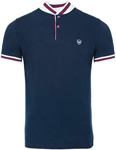 CARISMA Casual Classic Herren Poloshirt Kurzarm T-Shirt Polo-L-Navy