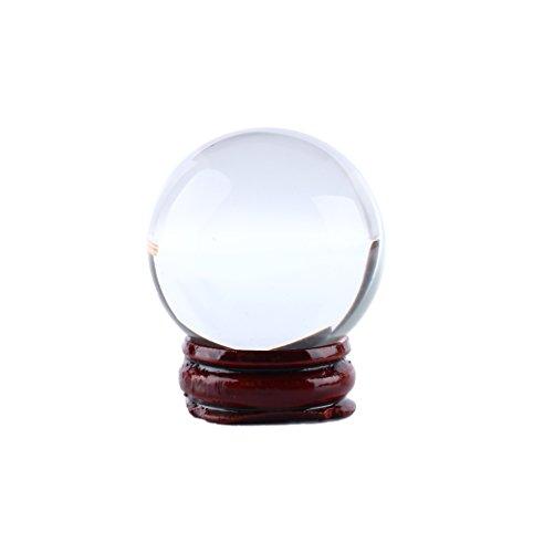 Bola de cristal transparente 40 mm/1.6 pulgadas asiática rara natural cuarzo claro...