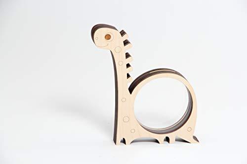 Rio Lindo Spardose aus Holz 21x18x3 cm Dino/Sparschwein/Sparbüchse/Deko/Hochzeit/Kinder/Kreative Geschenkidee